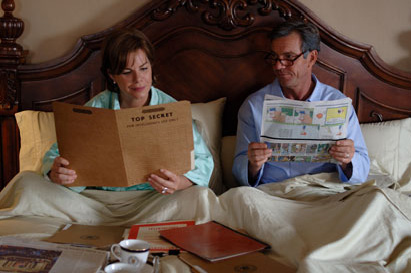 Marcia Gay Harden The President (Dennis Quaid) and First Lady () catch up on their morning reading
