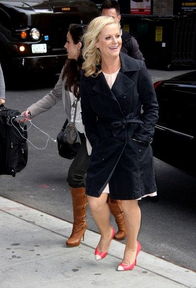 Amy Poehler: arrives at 'The Late Show with David Letterman'