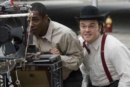 "Mos Def  (left) stars as ""Mike"" and Jack Black (right) stars as ""Jerry"" in New Line Cinema's upcoming release of Michel Gondry's BE KIND REWIND. Photo Credit: Abbot Genser/New Line Cinema"