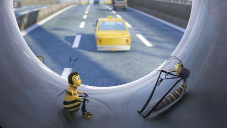 Chris Rock (Left to right) Just in from New Hive City, out-of-towner Barry B. Benson (JERRY SEINFELD) gets a crash course on life in the fast lane from Mooseblood the mosquito (CHRIS ROCK) in DreamWorks' BEE MOVIE, to be released by Paramount Pictures in Novem