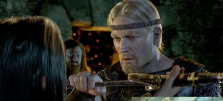 Ray Winstone Brendan Gleeson as Wiglaf and  as Beowulf in Paramount Pictures' Beowulf.
