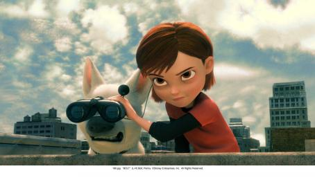 Bolt  (left), Penny (right) '©Disney Enterprises, Inc. All Rights Reserved.'
