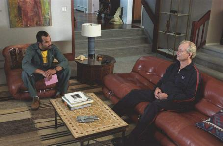 Bill Murray Jeffrey Wright (left) and  (right) star in Jim Jarmusch's BROKEN FLOWERS, a Focus Features release. Photo by David Lee.