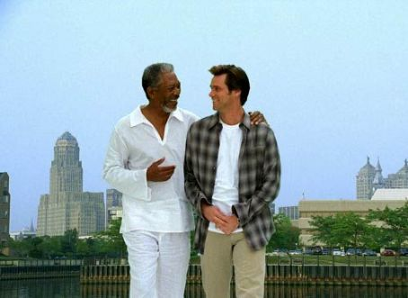 God Morgan Freeman and Jim Carrey in Universal's Bruce Almighty - 2003