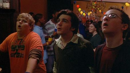 College Carter (Andrew Caldwell), Kevin (Drake Bell) and Morris (Kevin Covais) in COLLEGE.