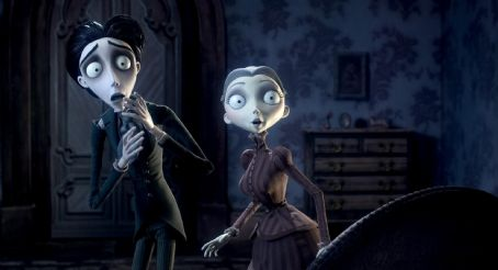 "Emily Watson Victor Van Dort, as voiced by JOHNNY DEPP, and Victoria, as voiced by EMILY WATSON, in Warner Bros. Pictures' stop-motion animated fantasy ""Tim Burton's Corpse Bride,"" also starring the voice of Helena Bonham Carter.Photo courtesy"