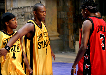 Anthony Mackie Little JJ as Up and  as Tech in Crossover - 2006