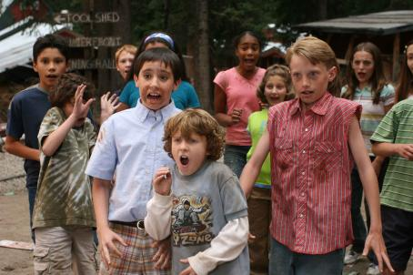Daddy Day Camp (Foreground) Tad D'Agostino, Taggart Hurtubise, and Zachary Allen star in DADDY DAY CAMP, a TriStar Pictures release. Photo credit: Susie Ramos