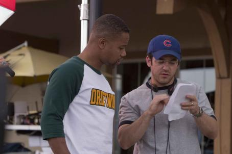 Daddy Day Camp Cuba Gooding Jr. (left) and director Fred Savage on the set of DADDY DAY CAMP, a TriStar Pictures release. Photo credit: Susie Ramos