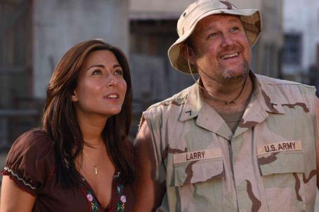 Marisol Nichols Maria (, left) and Larry (Larry the Cable Guy, right) in DELTA FARCE. Photo credit: Sam Urdank