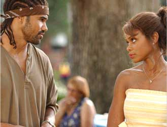 Shemar Moore  as Orlando, Kimberly Elise as Helen.