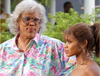 Tyler Perry  as Madea, Kimberly Elise as Helen.