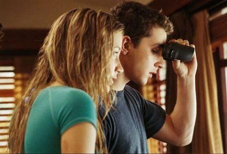 Sarah Roemer Ashley () and Kale (Shia LaBeouf) in DreamWorks Pictures' Disturbia - 2007.