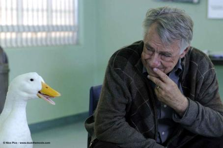 Philip Baker Hall Arthur () and Joe (Duck # 30). Photo credits by Mark Lampert