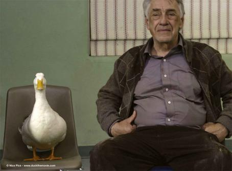 Philip Baker Hall Arthur () and Joe (Duck # 30) attend group therapy. Photo credits by Mark Lampert