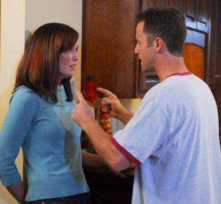 Erin Bethea Catherine () and Caleb (Kirk Cameron) in the scene of Fireproof.