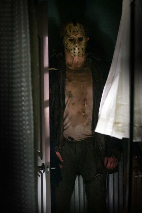 "Jason Voorhees DEREK MEARS stars as Jason in New Line Cinema's and Paramount Pictures' horror film ""Friday the 13th,"" a Warner Bros. Pictures release. Photo by John P. Johnson"