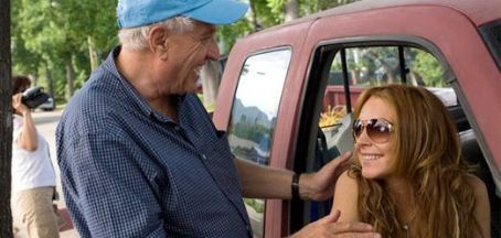 Garry Marshall Director  with Lindsay Lohan on the set of Georgia Rule - 2007