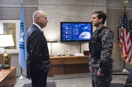 "Alan Arkin ALAN ARKIN stars as the Chief and STEVE CARELL stars as Maxwell Smart in Warner Bros. Pictures' and Village Roadshow Pictures' action comedy ""Get Smart,"" distributed by Warner Bros. Pictures. The film also stars Anne Hathaway and D"