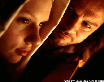 Girl with a Pearl Earring Scarlett Johansson and Colin Firth in  - 2003