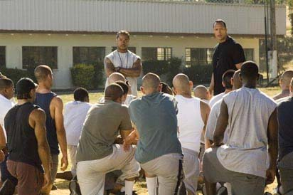 Xzibit  and Dwayne 'The Rock' Johnson in Columbia Pictures' Gridiron Gang - 2006