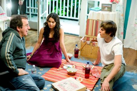 Kenny Ortega Vanessa Hudgens, Zac Efron, and Director  on the set of HIGH SCHOOL MUSICAL 3 SENIOR YEAR.