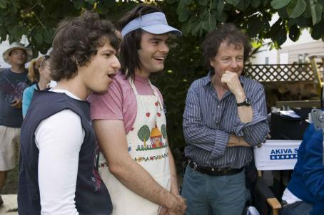 Bill Hader Andy Samberg and  on the set of Hot Rod. Credits by James Dittiger. (C) 2006 Paramount Pictures. All rights reserved.