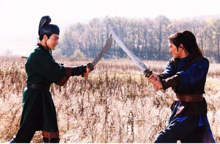 Andy Lau  (left) and Takeshi Kaneshiro (right) in in Sony Pictures Classics' House of Flying Daggers - 2004