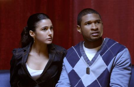 In the Mix Dolly (Emmanuelle Chriqui) and Darrell (Usher) from IN THE MIX.