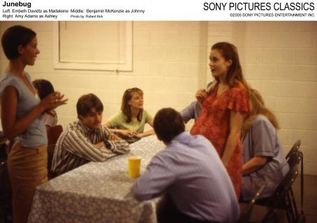 Embeth Davidtz Left:  as Madeleine; Middle: Benjamin McKenzie as Johnny; Right: Amy Adams as Ashley; Photo by: Robert Kirk.
