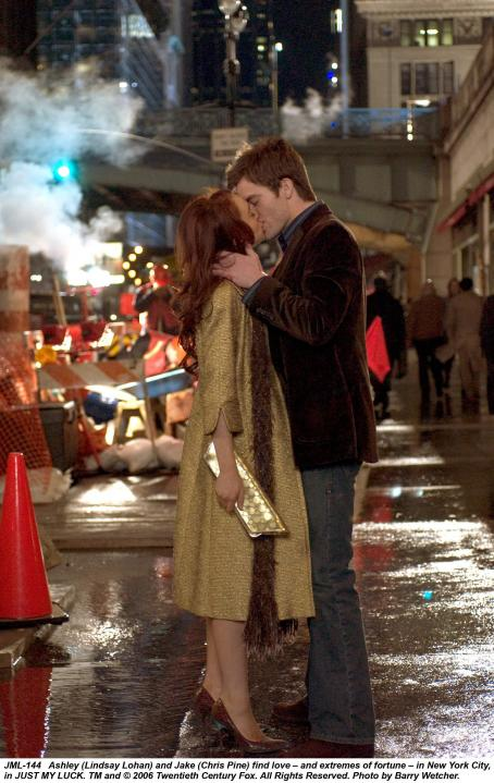 Ashley Albright Ashley (Lindsay Lohan) and Jake (Chris Pine) find love-and extremes of fortune - in New York City, in JUST MY LUCK. TM and © 2006 Twentieth Century Fox. All Right Reserved. Photo by Barry Wecher.