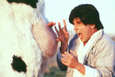 Kung Pow: Enter the Fist The Chosen One (Steve Oedekerk) gets caught up in the 'udder' madness of battling a karate cow in 20th Century Fox's Kung Pow!: Enter The Fist - 2002