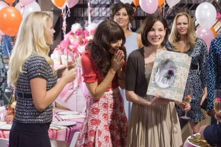 Whitney Cummings In Columbia Pictures' Made of Honor, Hannah (Michelle Monaghan, right) celebrates with her friends, Melissa (Busy Philipps, left), and Stephanie (, center). Photo By:  Peter Iovino. ©2008 Columbia Pictures Industries, Inc. and Beverly