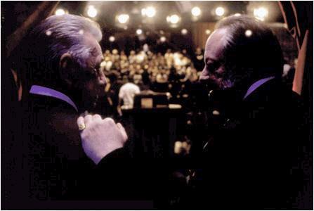 Philip Baker Hall Jimmy Gator () and Burt Ramsey (Ricky Jay) in P.T. Anderson's 'Magnolia'