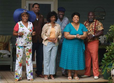 Frankie Faison A scene from TYLER PERRY'S MEET THE BROWNS featuring (left to right) Vera (Jenifer Lewis), Will (Lamman Rucker), Sarah (Margaret Avery), L.B. (), Cora Brown (Tamela Mann) and Mr. Brown (David Mann). Photo Credit: Alfeo Dixon