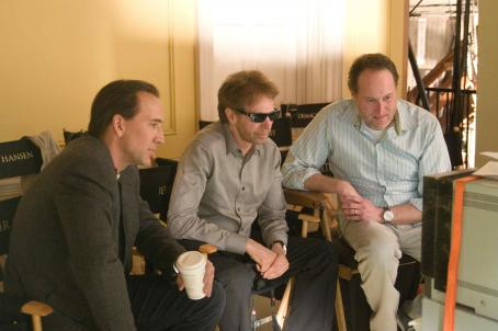 National Treasure: Book of Secrets Left to right: NICOLAS CAGE, JERRY BRUCKHEIMER, JON TURTELTAUB in '. Photo credit: Robert Zuckerman. © Disney Enterprises, Inc. and Jerry Bruckheimer, Inc. All rights reserved.