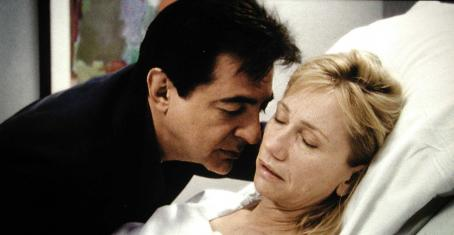 Joe Mantegna  as Richard and Kathy Baker as Camille in NINE LIVES, a film by Rodrigo Garcia, a Magnolia Pictures Release.