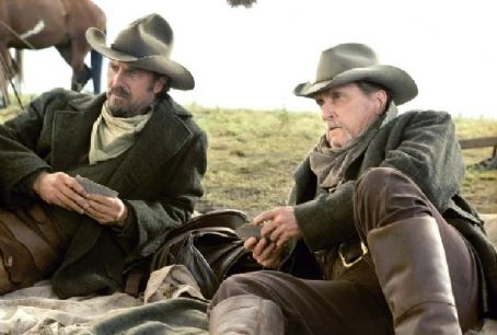Open Range Charley Waite (Kevin Costner, left) and his friend and mentor, Boss Spearman (Robert Duvall, right), as they must confront a new enemy.