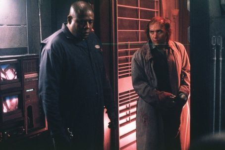 Panic Room Forest Whitaker as Burnham and Dwight Yoakam as Raoul in Columbia's  - 2002