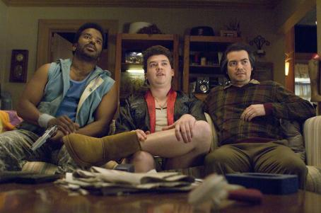 Craig Robinson Hired killers Matheson (, left) and Budlofsky (Kevin Corrigan, right) flank Red (Danny McBride, center) in Columbia Pictures' action-comedy Pineapple Express. © 2008 Columbia Pictures Industries, Inc.