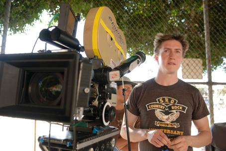 David Gordon Green Director  on the set of Columbia Pictures' action-comedy Pineapple Express. © 2008 Columbia Pictures Industries, Inc.