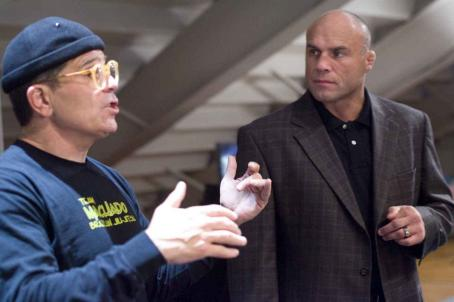 Randy Couture Left: Director David Mamet. Right: . Photo by Lorey Sebastian, © The Redbelt Company, LLC, courtesy Sony Pictures Classics. All Rights Reserved.