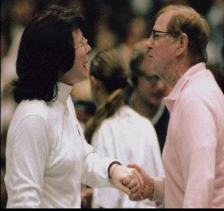 Billie Jean King Billie & Bobby At The End Of 1973 Tennis Match