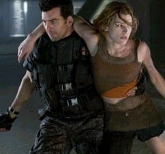 Oded Fehr  (left) and Milla Jovovich (right) star in Alexander Witt's Resident Evil: Apocalypse, a Sony Pictures Entertainment  release.