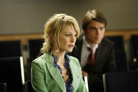 Kathryn Morris  as Joyce and Josh Hartnett as Erik in Director Rod Lurie drama movie 'Resurrecting the Champ' 2007. ©2007 Yari Film Group Releasing.