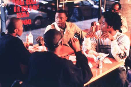 Sean Patrick Thomas  as Derek and Vince Green as Snookie in Paramount's Save The Last Dance - 2001