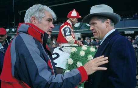 Seabiscuit Gary Ross (director) and Jeff Bridges (Charles Howard) on the set of .