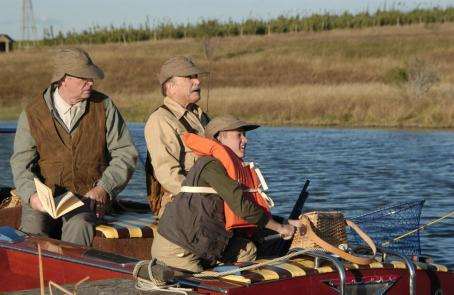 Secondhand Lions (left to right) Michael Caine as 'Garth', Robert Duvall as 'Hub' and Haley Joel Osment as 'Walter' in New Line Cinema's upcoming film .