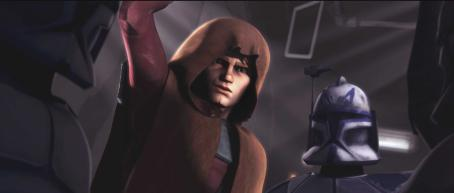 Star Wars: The Clone Wars Jedi Knight Anakin Skywalker prepares for battle in a scene from the upcoming ',' the first-ever animated Star Wars project from Lucasfilm Animation and Star Wars creator George Lucas. '' w