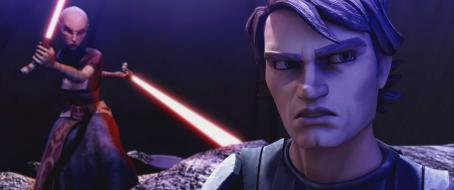 Star Wars: The Clone Wars Heroic Anakin Skywalker must confront villainous Asajj Ventress in '.' The Lucasfilm Animation production will be released Friday, Aug. 15, 2008, by Warner Bros. Pictures. © Lucasfilm Ltd. & TM. All rights reserved.
